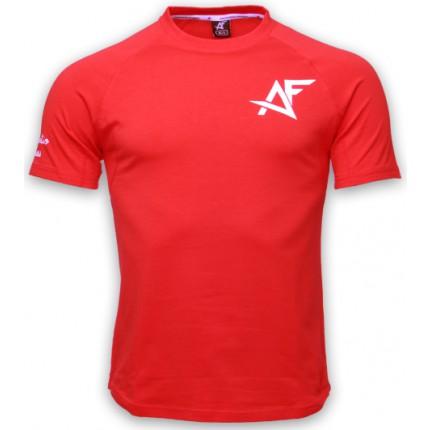 Pánská kolekcia - AESTHETIC FITNESS - Tričko AF (červená)