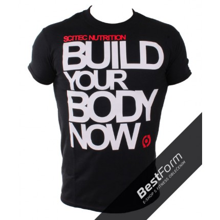 Pánská kolekcia - SCITEC tričko - Vybuduj si svoje telo (BUILD)