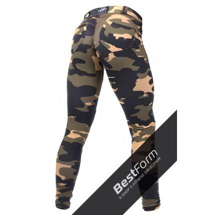 Dámská kolekcia - NEBBIA – Bubble Butt nohavice s maskáčovým vzorom 252