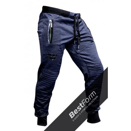 Pánská kolekcia - NEBBIA - Tepláky Aesthetic Warrior 106 (Modrá)