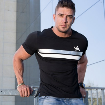 Pánská kolekcia - Aesthetix Era - Fitness tričko (čierna) (01.041)