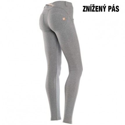 Dámska kolekcia - FREDDY – Push UP nohavice (sivý melír) (1L1E-H4)