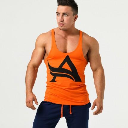 Pánská kolekcia - Aesthetix Era - Oranžové tielko na cvičenie (01.033)