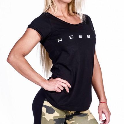 Dámská kolekcia - NEBBIA - Fitness Tričko 277 (čierna)