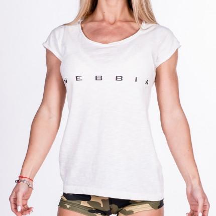 Dámská kolekcia - NEBBIA - Fitness tričko dámske 277 (biela)
