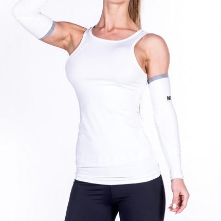 Dámská kolekcia - NEBBIA - Fitness tielko s výkrojom 268 (biela)
