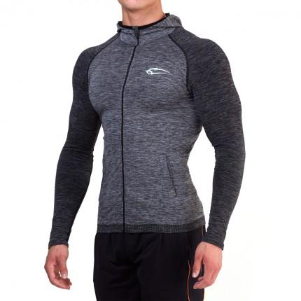 Pánská kolekcia - SMILODOX - Fitness tričko s dlhým rukávom (antracit) 28008