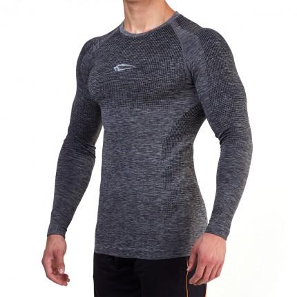 Pánská kolekcia - SMILODOX - Športové tričko s dlým rukávom pánske 28007 (antracit)