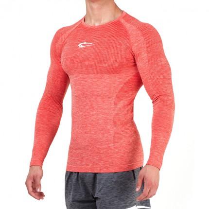 Pánská kolekcia - SMILODOX - Športové tričko s dlým rukávom pánske 28007 (červená)