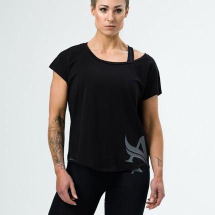 Dámská kolekcia - Aesthetix Era - Dámske voľné tričko na cvičenie (čierna) (51.002)