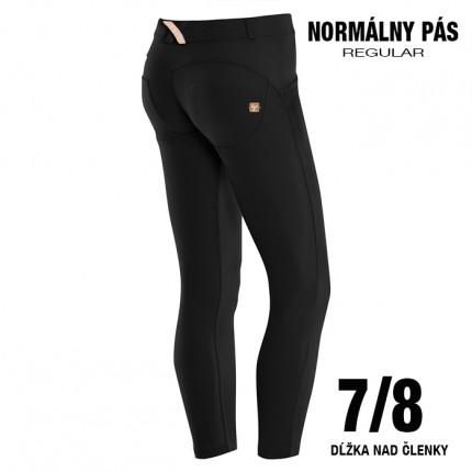 Dámska kolekcia - FREDDY - 7/8 Push Up nohavice REGULAR (čierna) (5RC01E-N)
