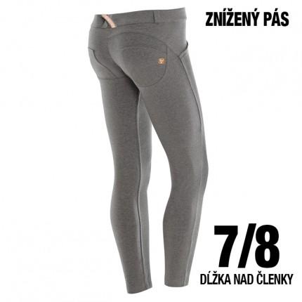 Dámska kolekcia - FREDDY - Pus Up nohavice 7/8 (sivý melír) (5LC01E-H4)