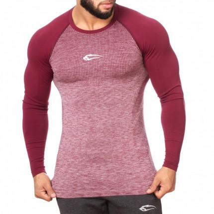 Pánská kolekcia - SMILODOX - Športové tričko s dlhým rukávom pánske 28081 (bordo)