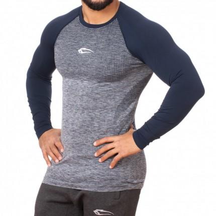 Pánská kolekcia - SMILODOX - Športové tričko s dlhým rukávom pánske 28081 (modra)