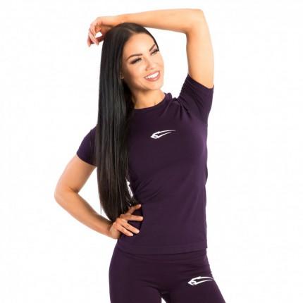 Dámská kolekcia - SMILODOX - Dámske bezšvové fitness tričko (fialová) 28129