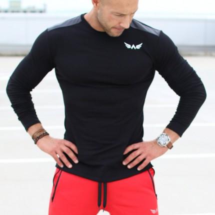 Pánská kolekcia - Exalted - Pánske tričko s dlhým rukávom L3 (čierna)