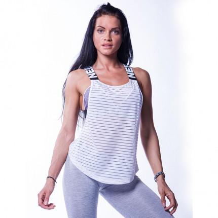Dámská kolekcia - NEBBIA - Fitness tielko dámske WRAP UP 626 (biela)