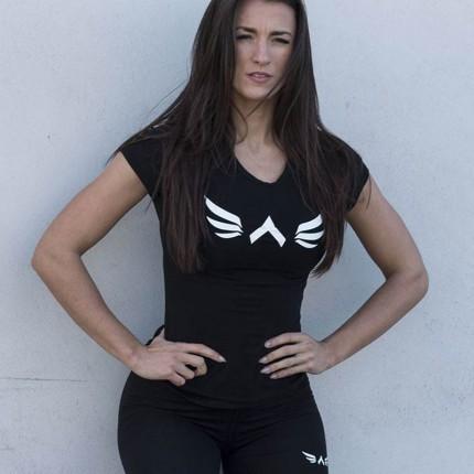 Dámská kolekcia - Exalted - Dámske fitness tričko X1 (čierna)