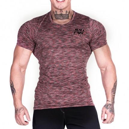 NEBBIA Výpredaj - NEBBIA - Výpredaj AW tričko 126 (červená)