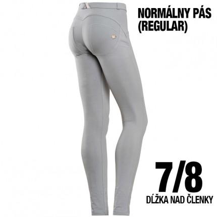 Dámska kolekcia - FREDDY - 7/8 push up nohavice REGULAR (svetlosivá) (5RC01E-G23)