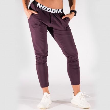 Dámska kolekcia - NEBBIA - Boyfriend tepláky dámske 655 (burgundy)