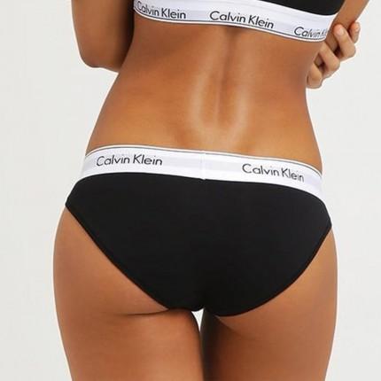 Dámská kolekcia - Calvin Klein - Nohavičky klasické (čierna) F3787E-001