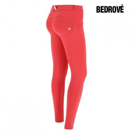 Dámska kolekcia - FREDDY - Červeno-ružové nohavice BEDROVÉ (1LC001-R720)