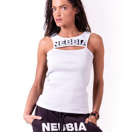 Dámska kolekcia - NEBBIA - Tielko Rib Cut Out 678 (biela)