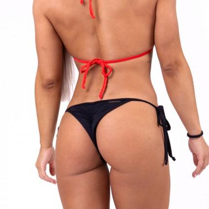 Dámska kolekcia - NEBBIA - Šnurovacie scrunch butt bikini 673 (čierna)