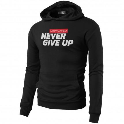 Pánska kolekcia - MOTIVATED - Mikina na cvičenie Never Give UP 324