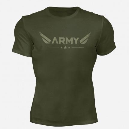 Pánska kolekcia - MOTIVATED - Tričko ARMY (zelená) 330