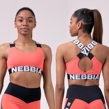 Dámska kolekcia - NEBBIA - Športová podprsenka POWER YOUR HERO 535 (peach)