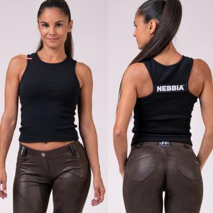Dámska kolekcia - NEBBIA - Crop-top LABELS 516 (black)
