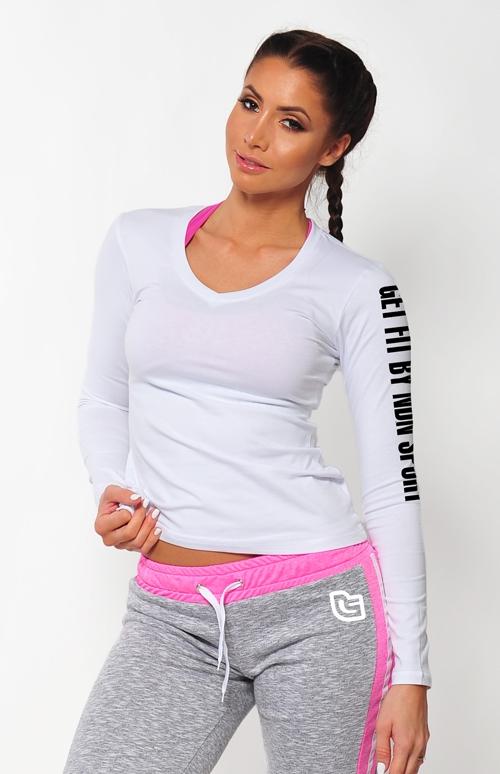 afcc0c316b00 Dámská kolekcia - NDN – Dámske tričko s dlhým rukávom SIMP (biela)