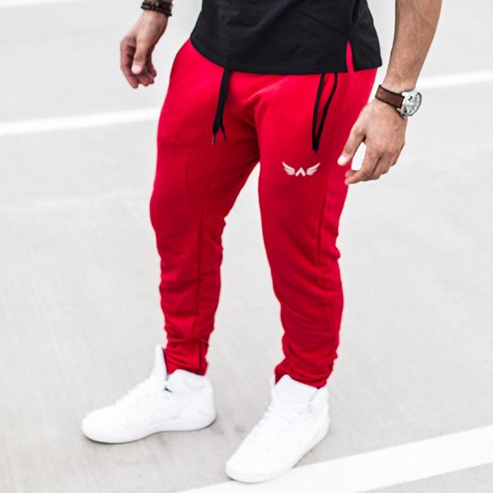 7b337f6b9db Pánská kolekcia - Exalted - Fitness tepláky X1 (červená)