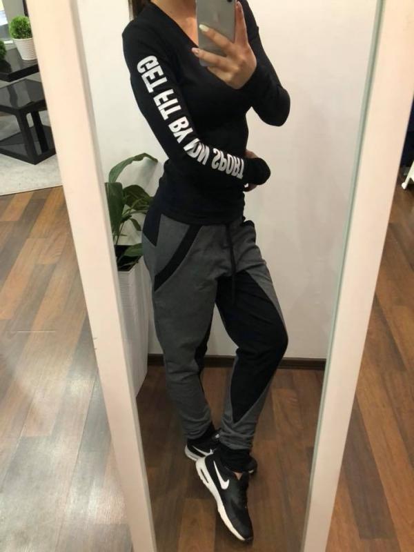 059d91cdb49c8 NDN   Fitness tričko s dlhým rukávom SIMP (čierna) - BestForm.sk
