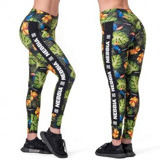 NEBBIA - Legíny high-waist PERFORMANCE 567 (jungle green)