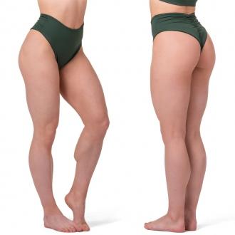 NEBBIA - Plavky high waist spodný diel 555 (dark green)