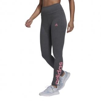 ADIDAS - Legíny high waist Essentials logo (tmavosivá) H07783