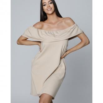 NDN - Dámske šaty CARMEN (capuccino)
