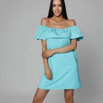 NDN - Dámske šaty CARMEN (tyrkysovo-zelená)