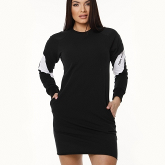 NDN - Dámska tunika s dlhým rukávom DINA (čierna)