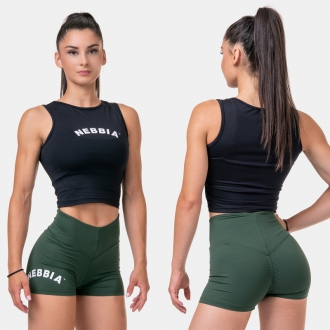 NEBBIA - Fit and Sporty top 577 (black)
