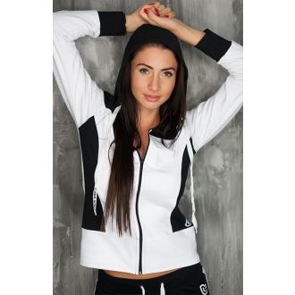 NDN – Dámska športová mikina na zips CILI (bielo-čierna)