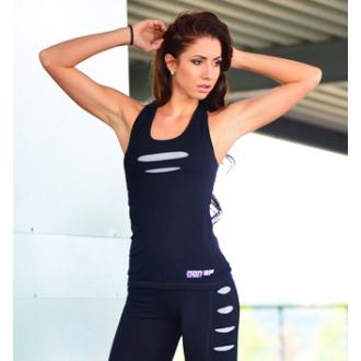 NDN - Bavlnené fitness tielko TIGER (sivý vzor)