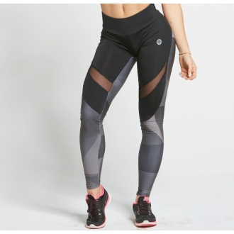 Gym Glamour - Legíny sivé geometrické