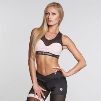 Gym Glamour - Fitness podprsenka Pink Mesh