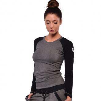 NDN - Tričko s dhlým rukávom STELLA (sivá)