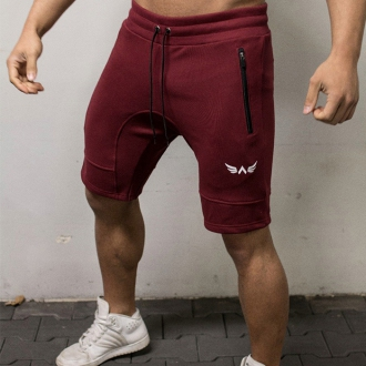 Exalted - Fitness šortky X1 (bordová)