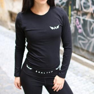 Exalted - Dámske fitness tričko s dlhým rukávom X1 (čierna)